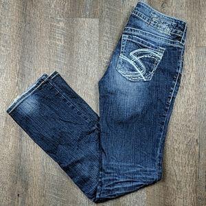 """Silver Jeans Suki 17"""" Bootcut W27 L32"""